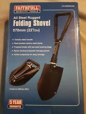 Faithfull Folding Snow Camping Digging Spade Pick Trenching Round Shovel & Pouch