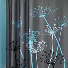 Waterproof Shower Curtain Dandelion Floral Fabric Bathroom Curtain With Hooks