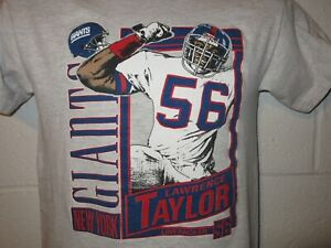 Vintage 90s Nutmeg Lawrence Taylor New York Giant T-Shirt Youth L