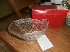 """Gorham  Holiday  Crystal Centerpiece Bowl C700D 10"""" Sleigh  Made in Germany"""