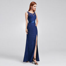 Long Navy Blue Chiffon Evening Gown Bridesmaid Dresses Formal 08949 Size 6