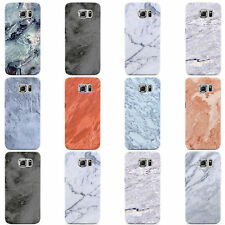 FAUX MARBLE EFFECT DESIGN HARD CASE COVER FOR SAMSUNG GALAXY MOBILE PHONES