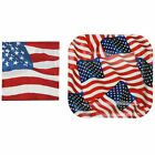 Iconikal Paper Party Pack, 40 Plates and 60 Napkins, Patriotic American Flag