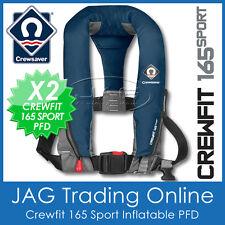 2x CREWSAVER CREWFIT 165  SPORT PFD NAVY BLUE MANUAL INFLATABLE LIFE JACKET 165N