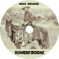 Ronicky Doone, Max Brand Western Audiobook English on 1 MP3 CD Free Shipping