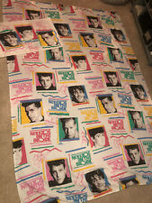 Vintage New Kids On The Block Flat Twin Bed Sheet And Pillowcase