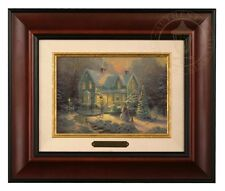 Thomas Kinkade Blessings of Christmas Framed Brushwork (Burl Frame)