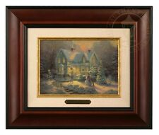 Thomas Kinkade Blessings of Christmas - Brushwork (Burl Frame)