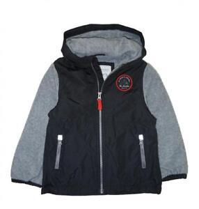Carter's Toddler Boys Black & Grey Fleece Lined Jacket Size 2T 3T 4T