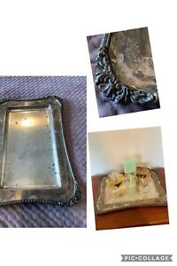 Silver Plate Serving Dish - Hecworth Repro - Sheffield - Dressing Table Perfume