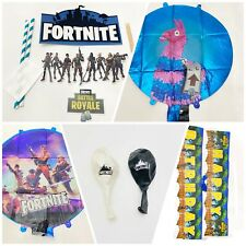 Fortnite | New Party Supplies Látex Foil Balloons Cake Topper Happy Bbday Banner