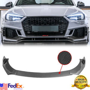 For AUDI A3 S3 A4 S4 A5 S5 RS5 A7 A8 R8 TT Carbon Fiber Look Front Bumper Lip