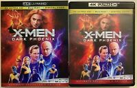 X-MEN DARK PHOENIX 4K ULTRA HD BLU RAY 2 DISC SET + SLIPCOVER JENNIFER LAWRENCE