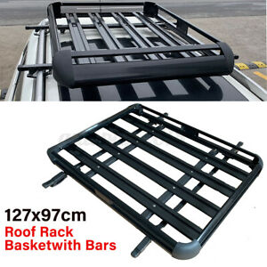 127*97cm Aluminium Car Roof Rack Basket Tray Travel Luggage Cargo Carrier 100kg