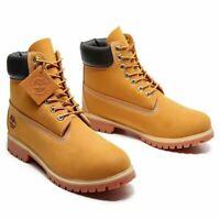 Timberland Men's 6-in Premium Waterproof Boot in Wheat Nubuck U.S. Size 4 to 13