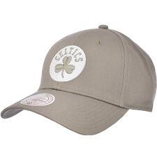 Mitchell & Ness NBA Boston Celtics Team Logo Low Pro Baseball Cap Hat - Olive