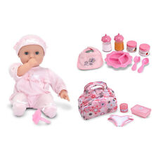 Jenna Baby Doll, Diaper Changing Bag, and Feeding Set by Melissa and Doug