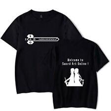 Anime Sword Art Online SAO T-shirt Summer Casual Short sleeve Crew Collar Tee 01