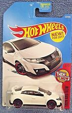 2017 Hot Wheels #327 Then and Now 1/10 16 HONDA CIVIC TYPE R White w/black J5 sp