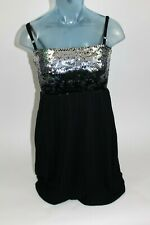 $136 SWEETEES Boutique Brand Dress Size SMALL Black Wool Blend W/ Sequin