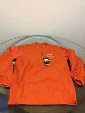 Nike Chicago Bears Water Repel Dri-Fit Orange Quarter Zip Pullover Jacket Small