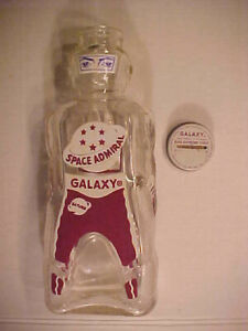 SPACE ADMIRAL 1950s Galaxy Home Syrup Soft Drink Bottle Bank,  Top Unused
