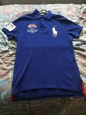 Ralph Lauren Polo Shirt Blue Italy Version 100% Authentic Size Medium