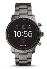 Fossil Q Explorist HR (4th Generation) 45mm Case Men's Bracelet/Link Band Smartwatch, Smoke Stainless Steel - (FTW4012P)