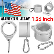 1 Pair Metal Flag Pole Rotating Mounting Rings Holder Grommet Clip Attachments