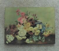 Antique Floral Still Life Oil Painting Chrysanthemums Flowers Signed  Dated 1905