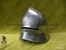 18GA SCA LARP Medieval German Sallet Helmet Armor Helmet Halloween Replica BS225