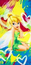 Tinkerbell Rainbow Beach Towel measures 28 x 58 inches