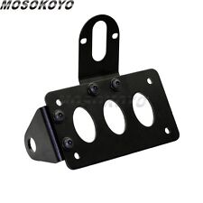 Motorcycle Side Mount License Plate Bracket Honder Fit Harley Bobber Chopper NEW
