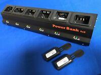 6 Bank Pro Charger(UL/CE)+20(2x10)batteries of Symbol/Motorola MC30xx#55-060112
