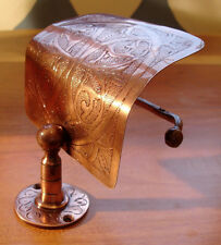 Moroccan tarnished copper  hand engraved wall mounted toilet paper roll holder