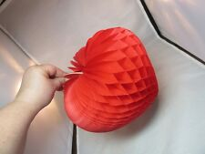 Vtg paper honeycomb Valentine's Day red heart decoration