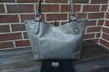 Authentic Frye Melissa Ice Grey Vintage Leather Shoulder Bag ---NWT $358