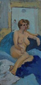 MICHAEL HASWELL - SEATED NUDE - MODERN BRITISH ARTIST