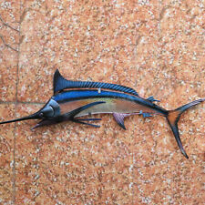 Metal & Glass Fish Wall Decor hanging sculpture for patio, porch, room