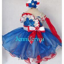 Infant/toddler/kids/baby/children Girl's Glitz Pageant Dress 1-6T G219-1