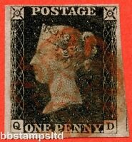 "SG. 2. A1 (2). AS5 g. "" QD "". 1d black. Plate 1b. A fine used example."