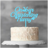 Personalised Christening Cake Topper Boy Girl Christening Day Cake Decorations