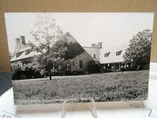 RPPC Photo Postcard Franklin Roosevelt Memorial Library Hyde New York