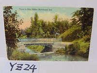 VINTAGE POSTED POSTCARD STAMP VIEW IN GLEN MILLER PARK RICHMOND INDIANA IN.