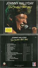 RARE / CD - JOHNNY HALLYDAY : EN CONCERT LIVE TOUT PUBLIC 1962 - 1992