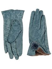 New Ladies Womens 100% Leather Gloves Soft Patent Rose Fantasy Vintage Style 70s