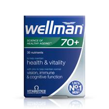 Well man 70 + Multivitamin Mineral zinc  help immune vutality 30 Tablets