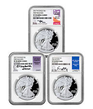 2017-W Proof Silver Eagle 3-Coin NGC PF70 UC FR Mercanti, Jones & Moy SKU47161