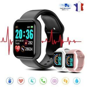 Montre Intelligente Connectée Smartwatch Sport Bluetooth Tactile Podomètre Step