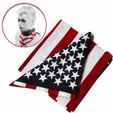 1pcs Patriotic US Flag Scarves Bandana Travel Head Scarf  Independence Day Gifts